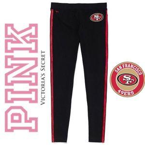 🏈 NFL 49ERS PINK VICTORIA SECRET LEGGINGS SP 🎀